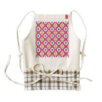 Pink rhombus pattern zazzle HEART apron