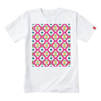 Pink rhombus pattern zazzle HEART T-Shirt