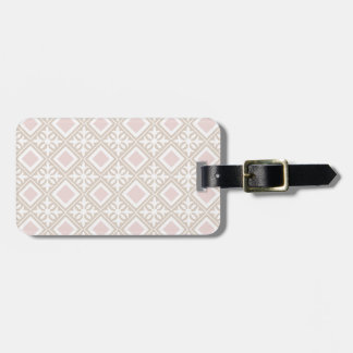 Pink Rhombuses Luggage Tag