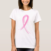 Pink Ribbon 2 Breast Cancer T-Shirt