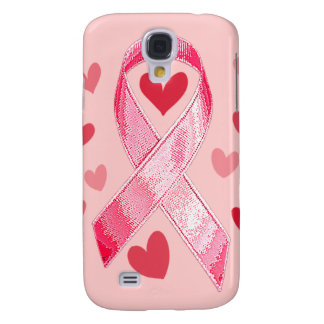 PINK RIBBON 3  GALAXY S4 COVER