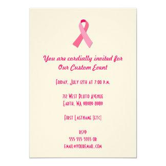 Pink Ribbon 5x7 Paper Invitation Card