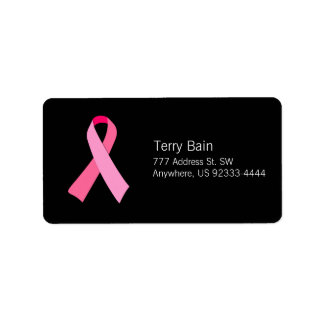 Pink Ribbon Address Label