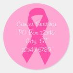 Pink Ribbon Address Sticker