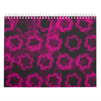 pink ribbon and black background wall calendars