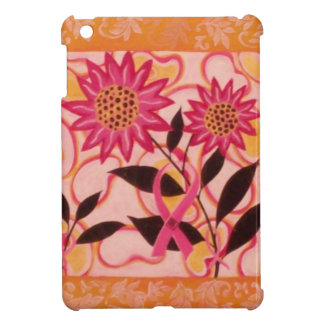 Pink Ribbon And Flowers iPad Mini Cover