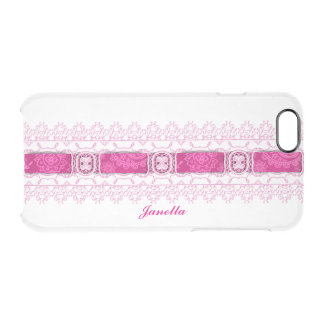 Pink Ribbon and Lace Clear iPhone 6 Case