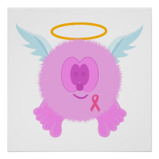 Pink Ribbon Angel Poster Print