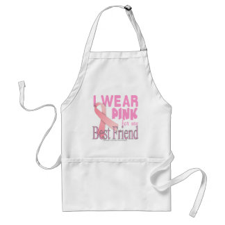 Pink Ribbon Apron I Wear Pink for my Best Friend