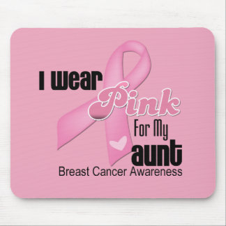 Pink Ribbon Aunt Breast Cancer Mouse Pad