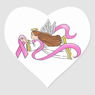 """Pink Ribbon"" Awareness Angel Stickers"