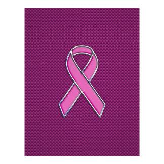 Pink Ribbon Awareness Carbon Fiber Decor Flyer