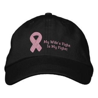 Pink Ribbon Awareness Embroidered Baseball Cap