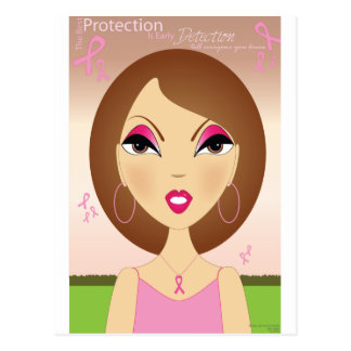 Pink Ribbon - Awareness Postcard