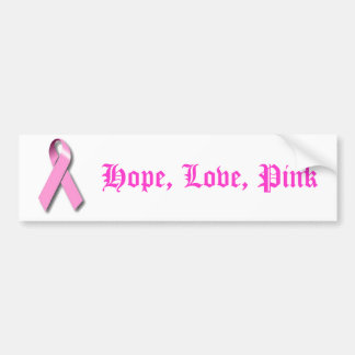 Pink Ribbon Awareness Products Bumper Sticker