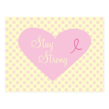 concern Pink Ribbon Awareness Stay Strong Postcard