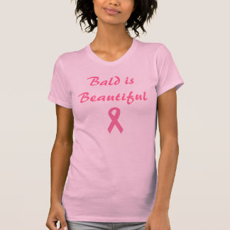 Pink Ribbon, Bald is Beautiful, Breast Cancer, Tee