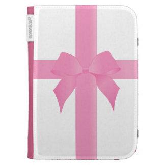 Pink Ribbon Bow Kindle Folio Case