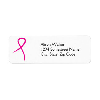 Pink Ribbon Breast Cancer Awareness  Avery Address Label