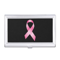 Pink Ribbon - Breast Cancer Awareness Business Card Case