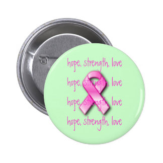 Pink Ribbon Breast Cancer Awareness Button