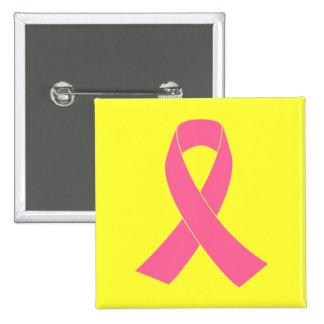 Pink Ribbon - Breast Cancer Awareness Button