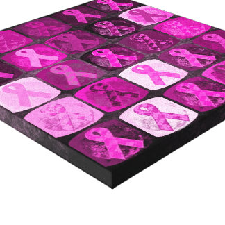 Pink Ribbon Breast Cancer Awareness Canvas Canvas Print