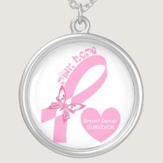 Pink Ribbon Breast cancer awareness custom pendant