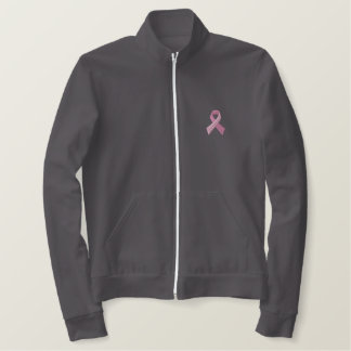Pink Ribbon - Breast Cancer Awareness Embroidered Jacket