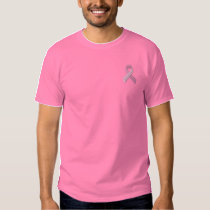 Pink Ribbon - Breast Cancer Awareness Embroidered T-Shirt