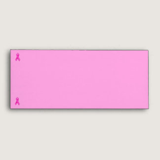 Pink Ribbon Breast Cancer Awareness Envelope
