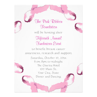 Breast Cancer Awareness Flyers & Programs | Zazzle