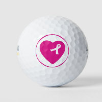 Pink Ribbon Breast Cancer Awareness Golf Ball