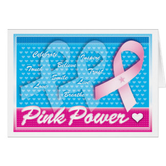 Pink Ribbon Breast Cancer Awareness Greeting Cards