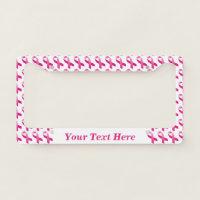 Pink Ribbon Breast Cancer Awareness License Plate Frame