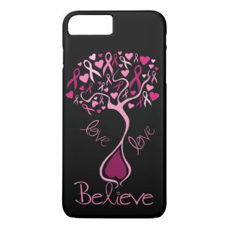 Pink Ribbon Breast Cancer Awareness Love & Believe iPhone 8 Plus/7 Plus Case