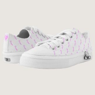 Pink Ribbon Breast Cancer Awareness Low Flops Low-Top Sneakers
