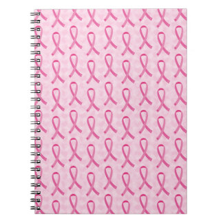 Pink Ribbon Breast Cancer Awareness Notebook