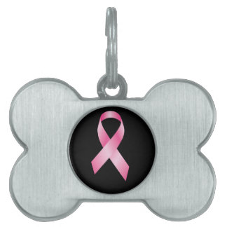 Pink Ribbon - Breast Cancer Awareness Pet Tag