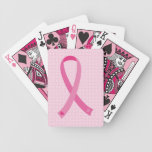 Pink Ribbon Breast Cancer Awareness Playing Cards