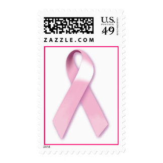 Pink Ribbon Breast Cancer Awareness Postage Stamps