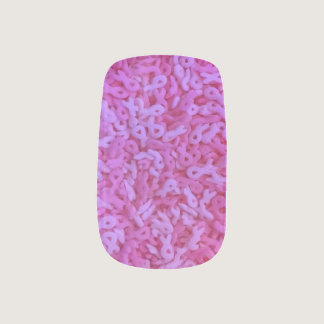 Pink Ribbon Breast Cancer Awareness Sprinkles Minx Nail Art