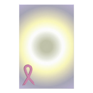 Pink Ribbon Breast Cancer Awareness Stationery