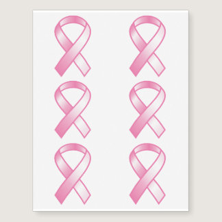 Pink Ribbon Breast Cancer Awareness Temporary Tattoos