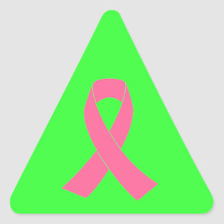 Pink Ribbon - Breast Cancer Awareness Triangle Sticker