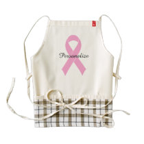 Pink ribbon breast cancer awareness women's apron