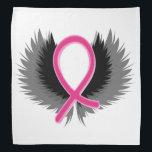 "Pink Ribbon Breast Cancer Bandana Handkerchief<br><div class=""desc"">Pink Ribbon Breast Cancer Bandana Handkerchief</div>"
