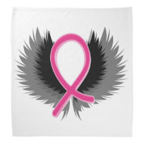 Pink Ribbon Breast Cancer Bandana Handkerchief