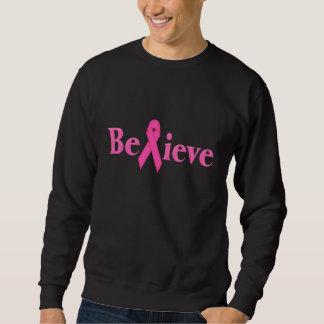 Pink Ribbon Breast Cancer Believe Sweatshirt