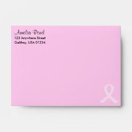 Pink Ribbon Breast Cancer Envelope